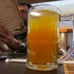 Iced Tea de laranja, que parece maça, mas tem gosto de maracujá